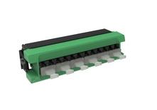 Адаптерная планка 360 G2 6хLC APC Duplex, iPatch Ready, SM TeraSPEED®, шторки: нет, цвет: зелёный