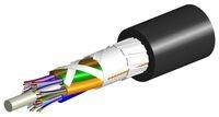 Универсальный оптический кабель, волокон: 12, Тип волокна: ОМ4 LazrSPEED® 550, конструкция: до 12 волокон в трубках с гелем вокруг общего силового элемента бронирование пластинами из фибергласа, изоляция: LSZH UV stabilized, EuroClass: Dca, диаметр: 11,1 мм, -40 - +70, цвет: чёрный