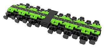 Адаптерная планка EHD 12xLC Duplex UPC, OM5, цвет: Lime