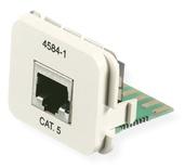 Адаптерная вставка AMP CO™ Plus Cat.5E 1xRJ45 Ethernet, Цвет: белый (RAL 9010)