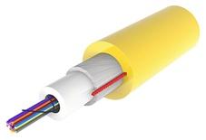 Компактный универсальный оптический кабель, кол-во волокон: 12, Тип волокна: OS2 в буфере 250 микрон, Конструкция: волокна в трубке без геля с диэлектрической защитой от грызунов, Изоляция: ULSZH, EuroClass: Dca, Диаметр: 6,4 мм, -10-+70 град., цвет: жёлтый, 2 км