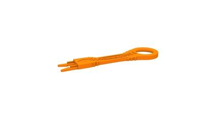 Инструмент для изъятия блокиратора порта RJ45 или LC, цвет: оранжевый