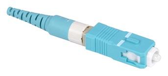 Бесклеевоё разъём Qwik-Fuse, Интерфейс: SC, Волокно: OM3/OM4/OM5, на кабель 1.6/2.0 mm, цвет: бирюзовый, уп-ка: 12
