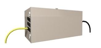 """Настенный шкаф для организации точки перехода """"наружный/внутренний кабель"""" до 144 обычных волокон или 432 Ribbon волокон (Fiber Entrance Cabinet) до 6 поддонов для сплайсов, 495х813х330, цвет: белый"""