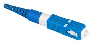 Бесклеевоё разъём Qwik-Fuse, Интерфейс: SC, Волокно: SM-UPC, на кабель 3.0 mm, Цвет: Синий, уп-ка: 12