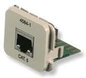 Адаптерная вставка AMP CO™ Plus Cat.5E 1xRJ45 Ethernet, Цвет: миндальный (RAL 9013)
