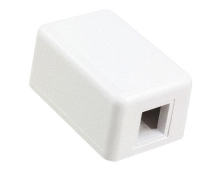 Розеточная коробка Modular Jack Boxes для любых SL гнёзд 1-портовая, цвет: альп.бeлый