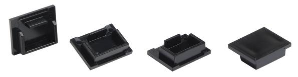 Заглушка порта для розеток M-серии M21A, цвет: чёрный