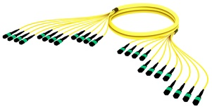 Претерминированный кабель MPOptimate® ULL 144 волокон OS2 G.657.A2 12хMPO12(m)/12хMPO12(m), APC, UltraLowLoss, изоляция: LSZH B2ca, Полярность: метод А, t=-10-+60 град., цвет: жёлтый, Длина м.: 3
