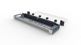 Коммутационная панель Systimax 1RU до 4xG2 модулей с фронтальным органайзером и тыловой кабельной поддержкой