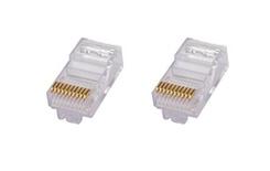 MP1010U-R-5: Модульная вилка RJ48 10-поз./10-конт. Cat.5; для круглого кабеля D=5,3, d=0,86-0,99, AWG:26-24; уп.: 500шт.