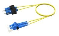 Коммутационный шнур LC-UPC/SC-UPC дуплексный, волокно: OS2 G.652.D and G.657.A1 TeraSPEED®, оболочка: Plenum, диаметр: 1.6, цвет: жёлтый, цвет разъёма: синий, длина м: 1