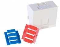 Лицевая панель наклонная 45x45, для 1 гнезда AMPTWIST со шторкой, цвет: белый