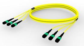 Претерминированный кабель G.652.D and G.657.A1 , OS2 TeraSPEED® 3xMPO12(f)/3xMPO12(f), изоляция: LSZH, EuroClass B2ca, t=-10-+60 град., цвет: жёлтый, Длина м.: 5