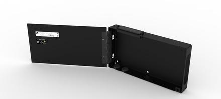 Настенный монтажный бокс серии WB2 на 1 кассету G2 двусекционный с дверцами, ВхШхГ: 280х330х64