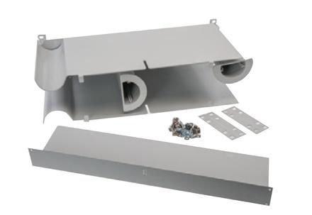 """Горизонтальная панель для изменения направления коммутационных шнуров или жгута от пигтейлов для шкафа FIST™ GR2/3 (Patch cord orientation module to redirect or branch pigtail bundles), Ширина: 19"""", высота: 5RU"""