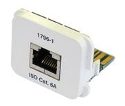 Адаптерная вставка AMP CO™ Plus Cat.6a RJ45 10 GigAEit Ethernet, цвет: белый (RAL 9010)