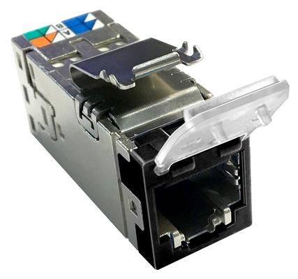 Экранированное гнездо RJ45 AMPTWIST SLX, 6AS с пылезащитной крышкой, цвет: чёрный