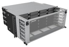 Коммутационная панель Systimax Ultra High Density 4RU до 24 модулей G2, до 288 LC Duplex или до 192 MPO, с фронтальным кабельным органайзером
