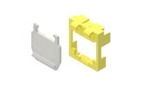 Маркерная насадка для гнезда AMPTWIST SLX с пылезащитной крышкой, цвет: жёлтый уп.: 50