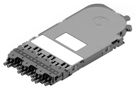 Кассета CHD pass-through под сплайсы без пигтейлов, цвет: чёрный