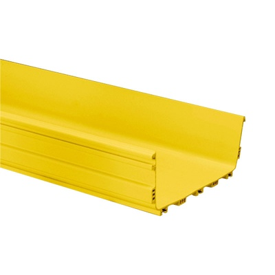 FiberGuide® Horizontal Straight Section, 4 in x 12 in, 12 ft length, yellow