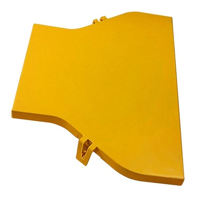 FiberGuide® Snap-on Cover for Straight Adapter, 4 in x 4 in to 4 in x 6 in, yellow