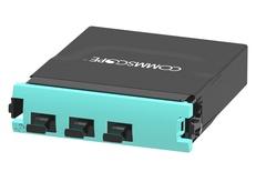 Модуль G2 MPOptimate® OM4 LazrSPEED® 550 3xMPO8(m)/2xMPO12(m) Method A Pair Straight, шторки: нет, цвет: бирюзовый