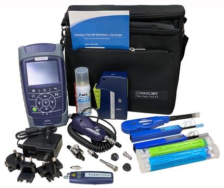 Набор для проверки и очистки оптических раазъёмов LC, SC, ST, MPO в составе: чистящая кассета, очиститель для разъёмов, жидкость для очистки (3 унции), 40 чистящих палочек 1,25 мм,40 чистящих палочек 2,5 мм, микроскоп с LCD дисплеем