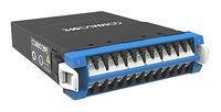 Модуль G2 ULL 12LC Duplex/2xMPO12(f) SM G.657.A2, Method B Enhanced, шторки: да, цвет: синий