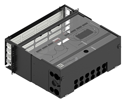 Коммутационная панель серии EPX выдвижная закрытая, до 16 модулей G2, до 192 LC Duplex, высота: 4RU