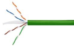 Кабель 4-парный U/UTP Cat.6, 24 AWG, оболочка: LSZH, EuroClass Dca, диаметр: 5,72, NVP 71%, -20-+60 грд, цвет: зелёный, уп.: коробка 305 м