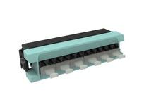 Адаптерная планка 360 G2 6хLC Duplex, iPatch Ready, OM4 LazrSPEED® 550, шторки: нет, цвет: бирюзовый