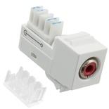Мультимедийное гнездо RCA красный SL-типа, контактный блок: 110, цвет: белый