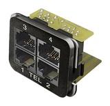 Адаптерная вставка AMP CO™ Plus приложение: телефонная, 4хRJ45, Cat.3, Цвет: чёрный (RAL 9005)
