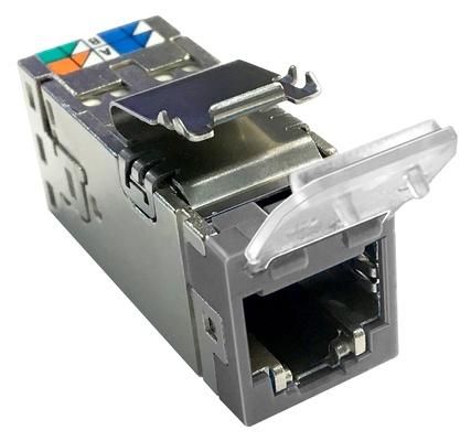 Экранированное гнездо RJ45 AMPTWIST SLX, 6AS с пылезащитной крышкой, цвет: серый
