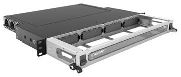 Коммутационная панель Systimax High Density 1RU для установки до 4 модулей G2, с фронтальным кабельным органайзером, до 48 LC Duplex или до 32 MPO