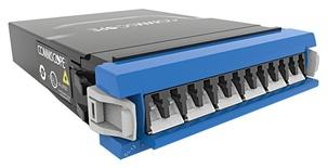 Модуль G2 ULL 6LC Duplex/1xMPO12(f) SM G.657.A2, Method B Enhanced, шторки: да, цвет: синий