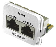 Адаптерная вставка AMP CO™ Plus 2xRJ45 (2хISDN) Cat.6a, цвет: белый (RAL 9010)