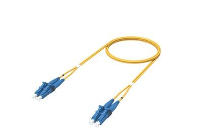 Коммутационный шнур  LC-UPC/LC-UPC-дуплексный 1.8мм, OS2, оболочка: LSZH, цвет: жёлтый, длина м: 1.5