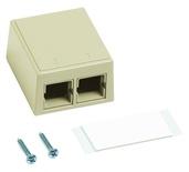 Настенная розеточная коробка M102 под гнездо М-серии, кол-во портов: 2, цвет: ivory