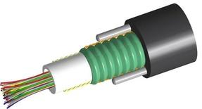 Кабель внешней прокладки комбинированный, Кол-во волокон: 24, Тип волокна: 12 - G.652.D and G.657.A1 TeraSPEED®,, 12 - ОМ3 LazrSPEED® 300,  Конструкция: центральная трубка с гелем, бронирование гофрированной стальной лентой, 2 диэлектрических прутка Rigid RSM, изоляция: PE, диаметр: 11 мм, -40 - +70 град. С, цвет: чёрный