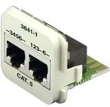 Двойная адаптерная вставка AMP CO™ Plus Cat.5E, Тип вставки: 2xRJ45 (1хFastEthernet / 1хISDN), Цвет: миндальный (RAL 9013)
