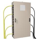 """Настенный шкаф для организации точки перехода """"наружный/внутренний кабель"""" до 864 обычных волокон или 2592 Ribbon волокон (Fiber Entrance Cabinet) до 36 поддонов для сплайсов, 1575х813х330, цвет: белый"""