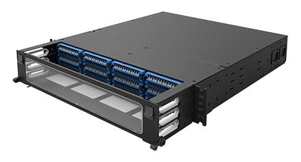Панель под сварку UDS 12 модулей UDS по 12 Duplex LC UPC ULL, Метод: B Enchanced, Высота: 2RU, цвет: чёрный