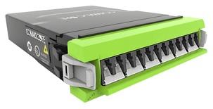 Модуль G2 ULL 6LC Duplex/1xMPO12(f) OM5, Method B Enhanced, шторки: да, цвет: lime