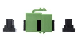Гнездо SL-типа-соединитель SC Simplex, выравниватель: керамика, цвет: зелёный