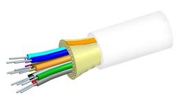 Внутренний оптический кабель, кол-во волокон: 2, Тип волокна: ОМ3 LazrSPEED® 300 буфер 900мк, Конструкция: ODC, изоляция: OFNP, диаметр: 3,76 мм, -20 - +70 град., цвет: белый