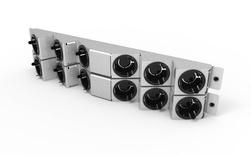 Панель с 12 кабельными вводами для панелей Systimax Ultra High density 2RU, цвет: серебряный