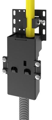 Комплект переходной CHD-2RU. Для применения со сплайс кассетами CHD для ленточных кабелей и CHD-2U, CHD-4U панелями